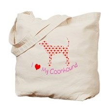 i heart my coonhound Tote Bag