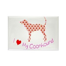 i heart my coonhound Rectangle Magnet