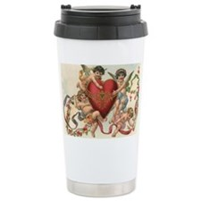 Vintage Valentine's Day Travel Mug