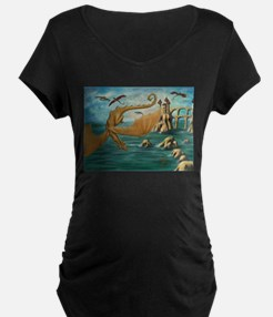 City of Dragons Maternity T-Shirt