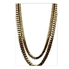 Gold Chains Postcards (Package of 8)