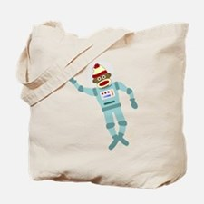 Sock Monkey Spacesuit Astronaut Tote Bag