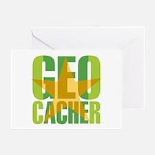 Star Geocacher Green Greeting Cards (Pk of 10)
