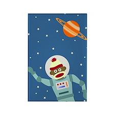Sock Monkey Spacesuit Astronaut Magnet