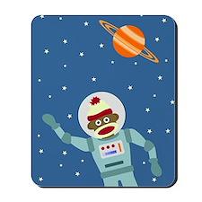 Sock Monkey Spacesuit Astronaut Mousepad
