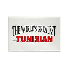 """The World's Greatest Tunisian"" Rectangle Magnet"