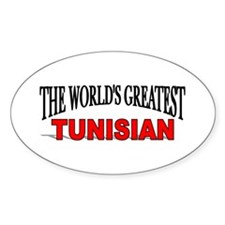 """The World's Greatest Tunisian"" Oval Decal"