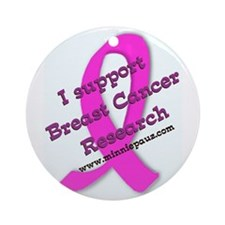 Support Breast Cancer Researc Ornament (Round)