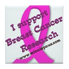 Support Breast Cancer Researc Tile Coaster