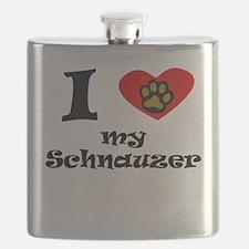 I Heart My Schnauzer Flask