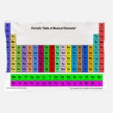 Periodic Table of Musical Elements Pillow Case