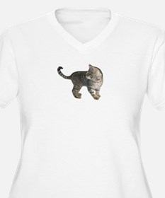 Kitten Chasing Tail Plus Size T-Shirt