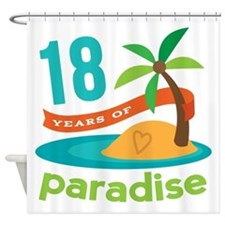 18th Anniversary Paradise Shower Curtain