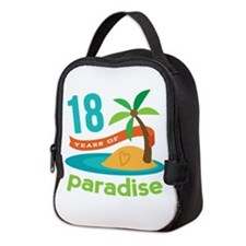 18th Anniversary Paradise Neoprene Lunch Bag