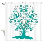 Love Bird Tree Shower Curtain