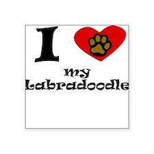 I Heart My Labradoodle Sticker