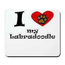 I Heart My Labradoodle Mousepad