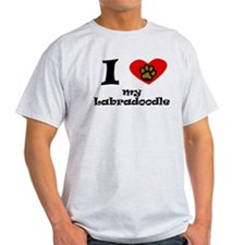 I Heart My Labradoodle T-Shirt