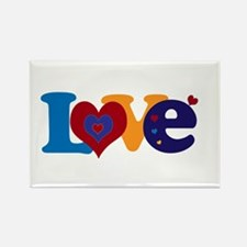 Cute LOVE with Hearts Magnets