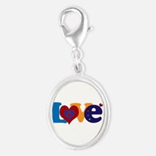Cute LOVE with Hearts Charms