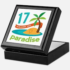 17th Anniversary Paradise Keepsake Box