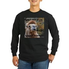 What Day is it? Camel Long Sleeve T-Shirt