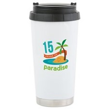 15th Anniversary Paradise Travel Mug