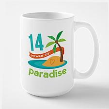 14th Anniversary Paradise Mug