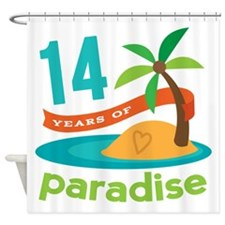 14th Anniversary Paradise Shower Curtain