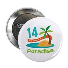 "14th Anniversary Paradise 2.25"" Button (10 pack)"