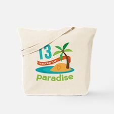13th Anniversary Paradise Tote Bag