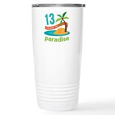 13th Anniversary Paradise Travel Mug