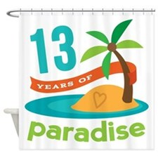 13th Anniversary Paradise Shower Curtain