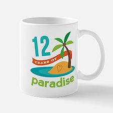 12th Anniversary Paradise Mug