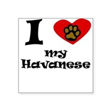 I Heart My Havanese Sticker