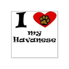 I Heart My Havanese Sticker