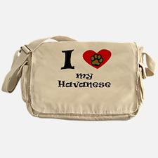 I Heart My Havanese Messenger Bag