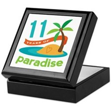 11th Anniversary Paradise Keepsake Box