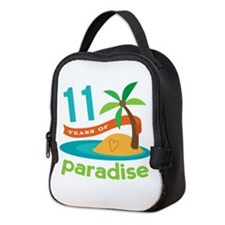 11th Anniversary Paradise Neoprene Lunch Bag