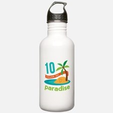 10th Anniversary Paradise Water Bottle