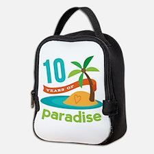 10th Anniversary Paradise Neoprene Lunch Bag