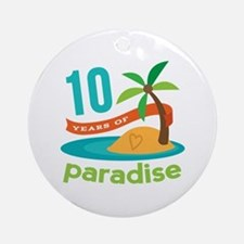10th Anniversary Paradise Ornament (Round)