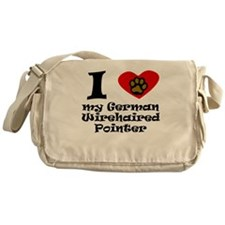 I Heart My German Wirehaired Pointer Messenger Bag