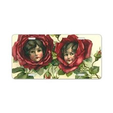Vintage Valentine's Day Aluminum License Plate