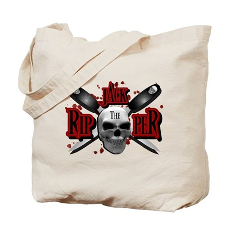 Jack the Ripper Red Tote Bag