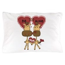 Giraffes Be Mine Valentine Pillow Case