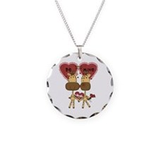 Giraffes Be Mine Valentine Necklace