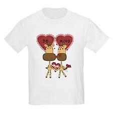 Giraffes Be Mine Valentine T-Shirt