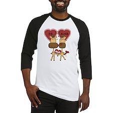 Giraffes Be Mine Valentine Baseball Jersey