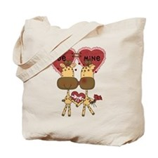 Giraffes Be Mine Valentine Tote Bag